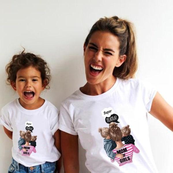 Roliga sommarfamilj matchande-kläder, vit t-shirt som matchar Kids-5-6TQZ0035-14