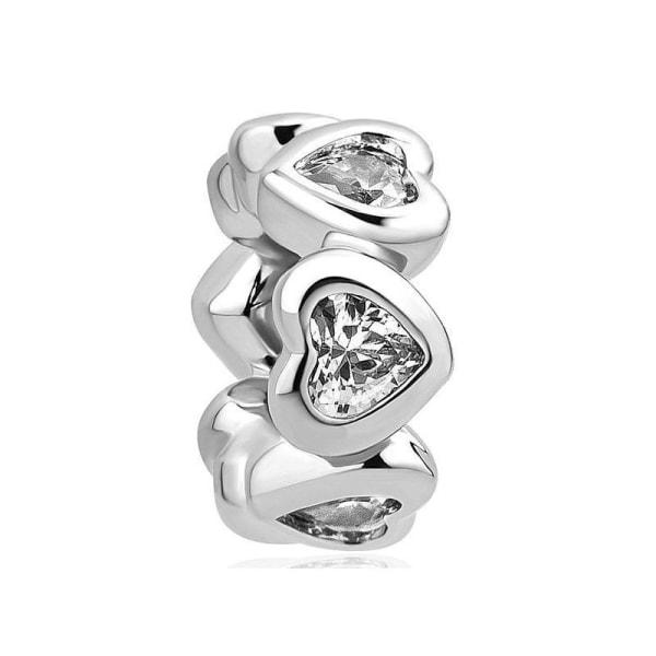 Silver pandora berlocker, pärlpassat armband B037-29