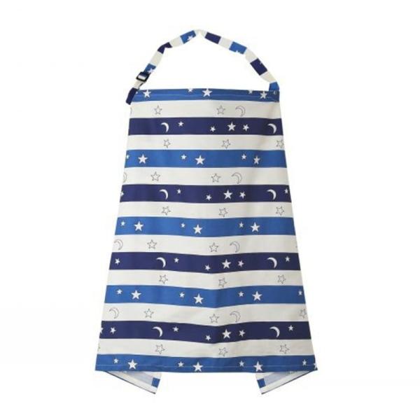 Andningsbar baby ammande amning poncho täcka upp justerbart Striped starry sky