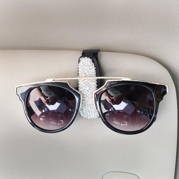 Solskydd glasögon fodral solglasögon glasögon hållare White