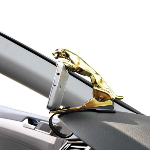 Leopard universal biltelefonhållare med instrumentbräda gold