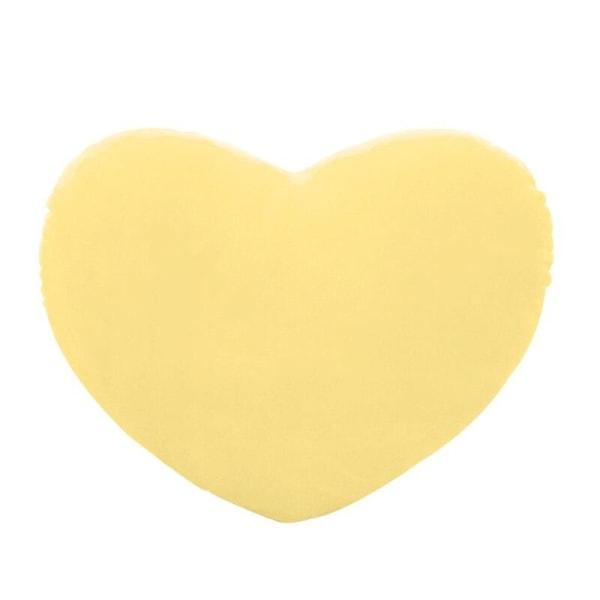 Hjärtformad dekorativ kudde Yellow