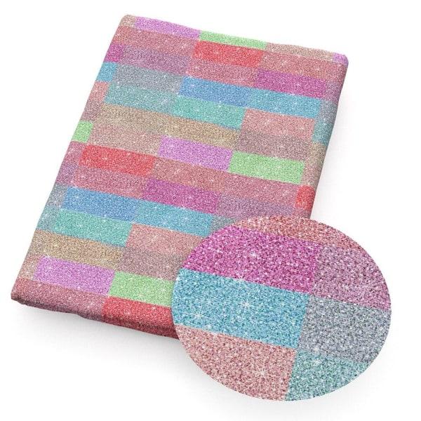 Rutigt slipsfärgat polyester bomullstyg patchwork 1068561001