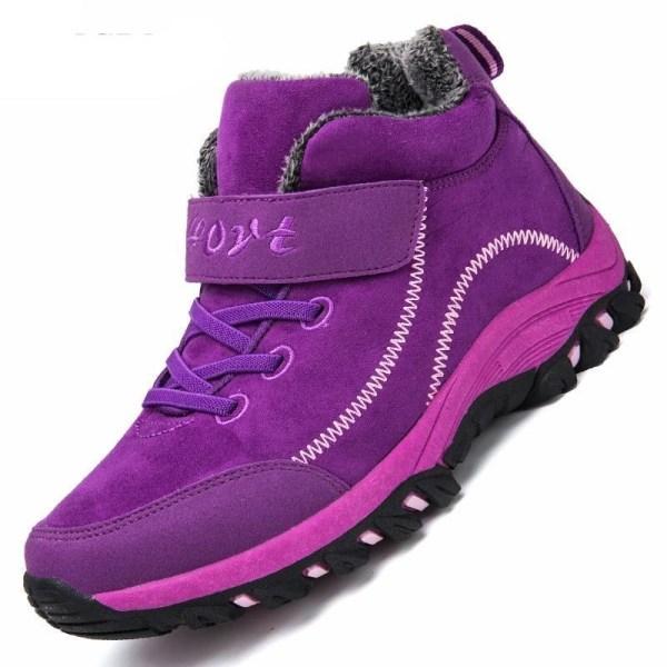Vattentäta vinterstövlar för män Purple 46