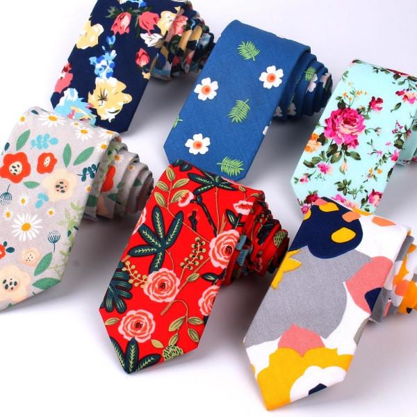 Blommig slips, kvinnor, smal bomullsslips för bröllop, casual LD37150