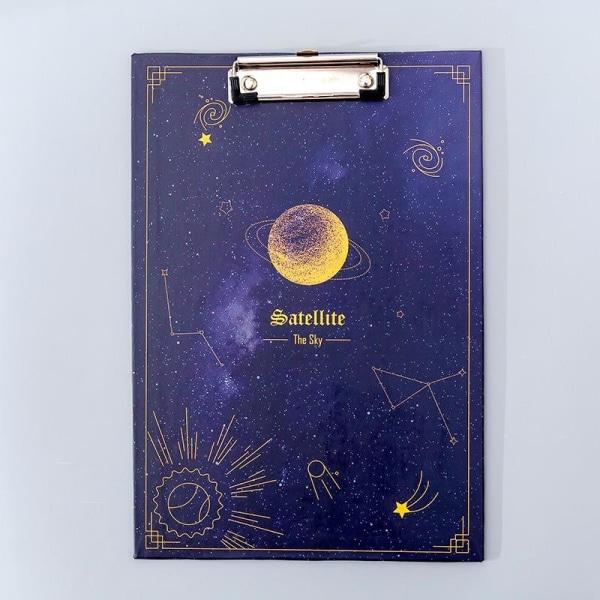 Kreativa drömstjärniga stjärnhimmel a4 urklipp, filtavla, Pink