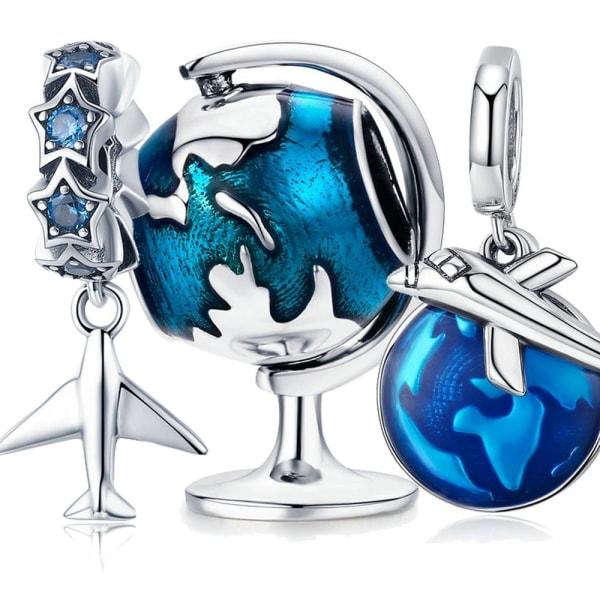 Sterling silver charm, fit armband DIY smycken ECC1526