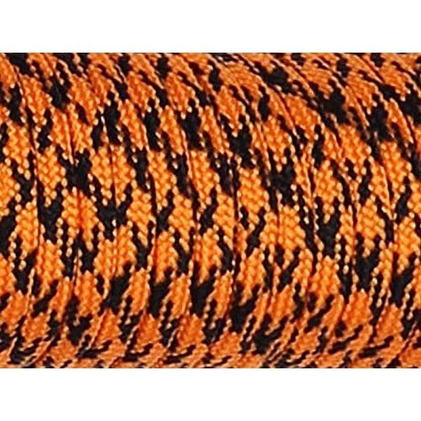 Paracord 550 fallskärmsnoddband för klättring och camping Orange and black 10M
