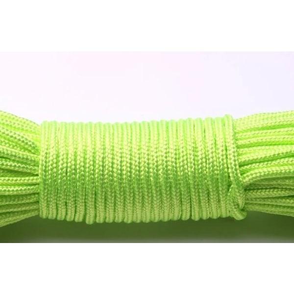 Ett stativ kärnor paracord rep för smycken tillverkning Fluorescent green 50ft