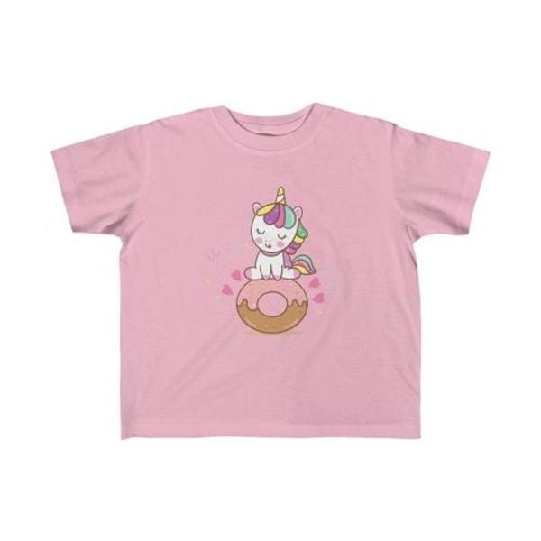 Unicorn älskar munkar kid tee Pink 3T
