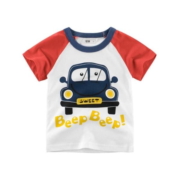 Barns bomullst-shirt för 19 4T