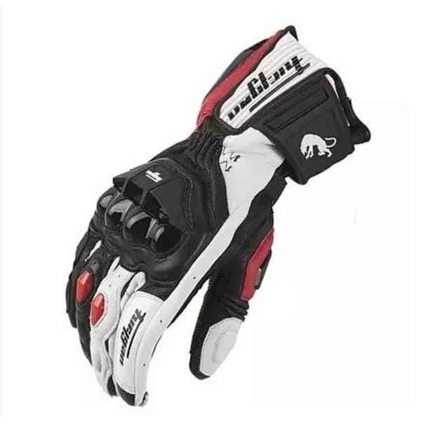 äkta läder - motorcykelhandskar AFS 18 Red-White L