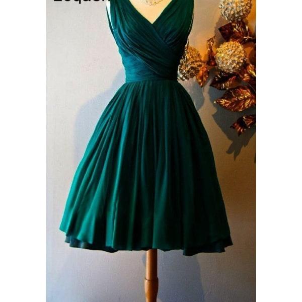 Vintage eleganta knälång cocktailklänningar (set 1) Blue 2