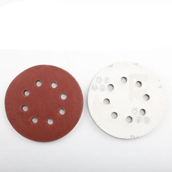"""10st 125mm 5 """"krokslinga slipskivor 8-håls sandpapper Grit 320-10pcs"""