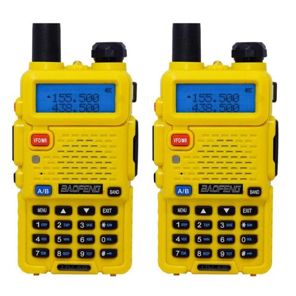 Dual-band skinka bärbar, walkie talkie, tvåvägs radio Euro