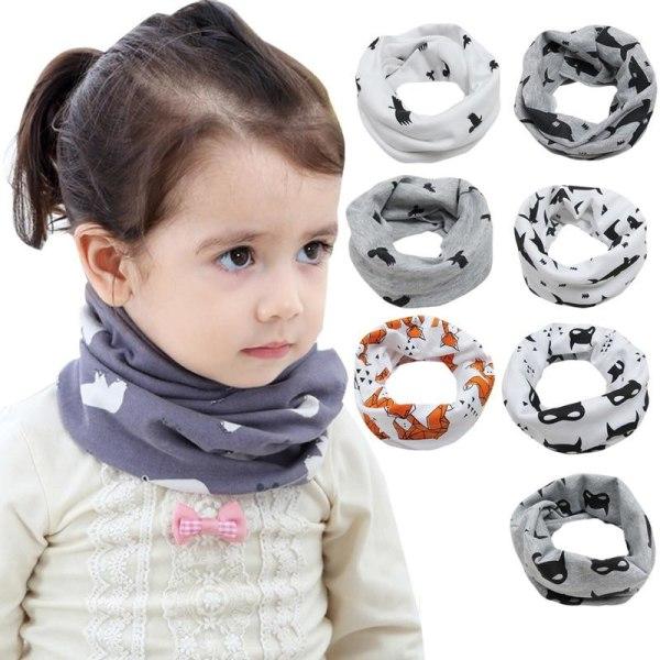 Baby scarf pojkar flickor varm bomull hals sjal halsduk Size fits allCotton, 40x22cm