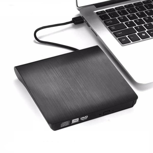 Bärbara ultratunna externa cd-enheter, dvd-spelare, usb3.0 2 IN 1 White