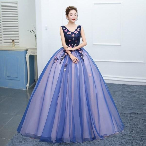V-ringad fest balklänning, värd solo spets klänning 10B
