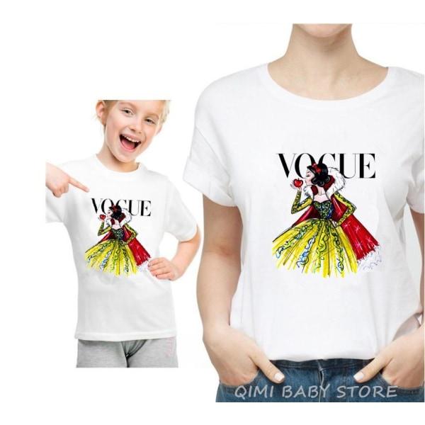 Mamma dotter matchar söta tshirts Mom Tshirt-S