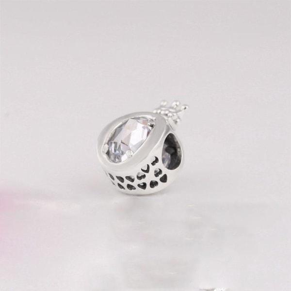 Silver pandora berlocker, pärlpassat armband B499