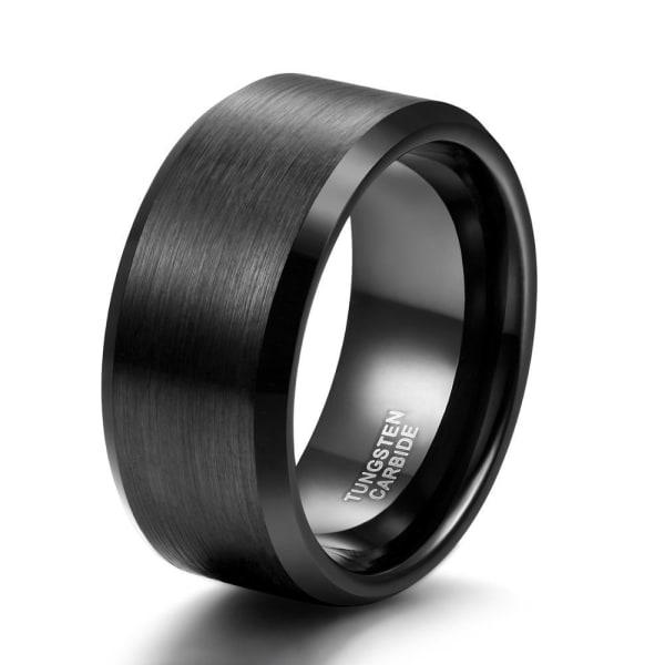 4/6/8 / mm svart volframkarbid förlovningsring för kvinnor 10mm black 10