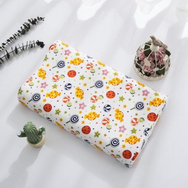 Baby örngott tecknad barn kuddfodral bekvämt barn latex F Pillowcase 30x50cm