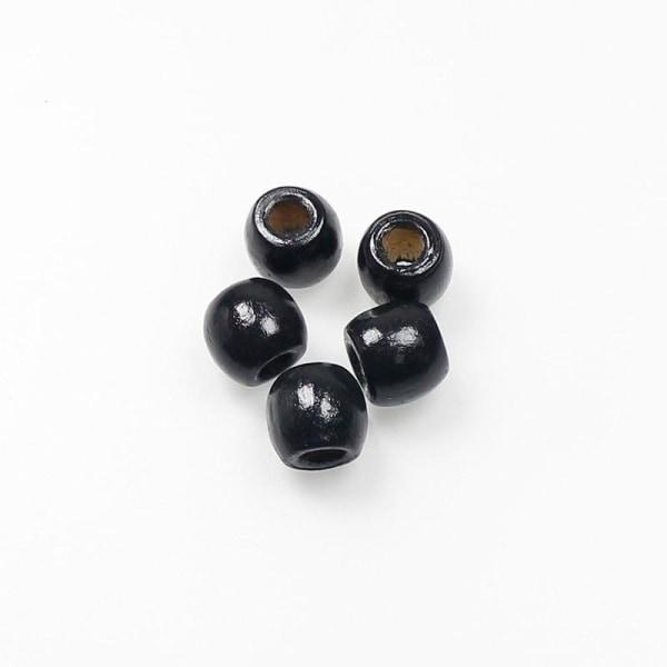100st / parti vintage naturliga trä lösa pärlor smycken fynd black 9x10mm 100pcs