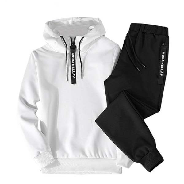 Casual sportkläder, hiphop, huvtröjor och byxor, 4XL738 black