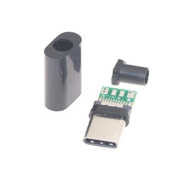 Typ-c usb-kontakt hankontakt med pcb 24-pin svetsdatalinje White Line Connector|24P|Male Insert