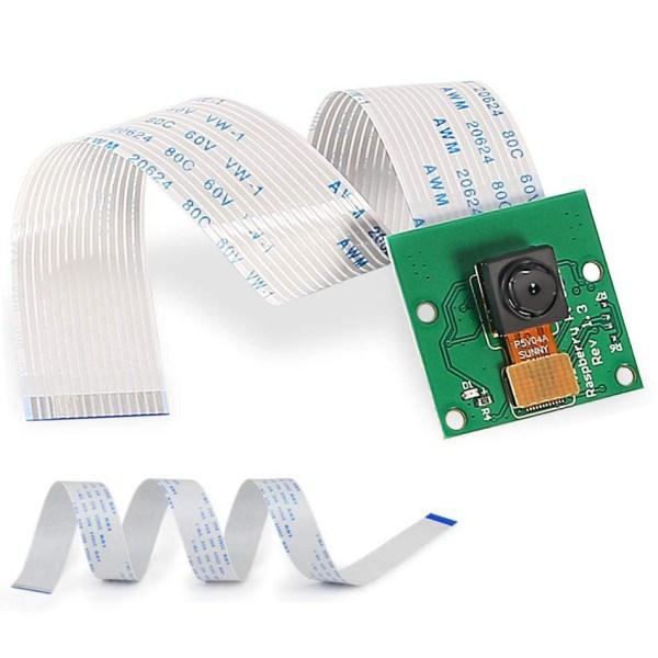 Pi-4 kameramodul för pi 4b 5mp webbkamera för pi 3 modell b+ with whitecable 15cm