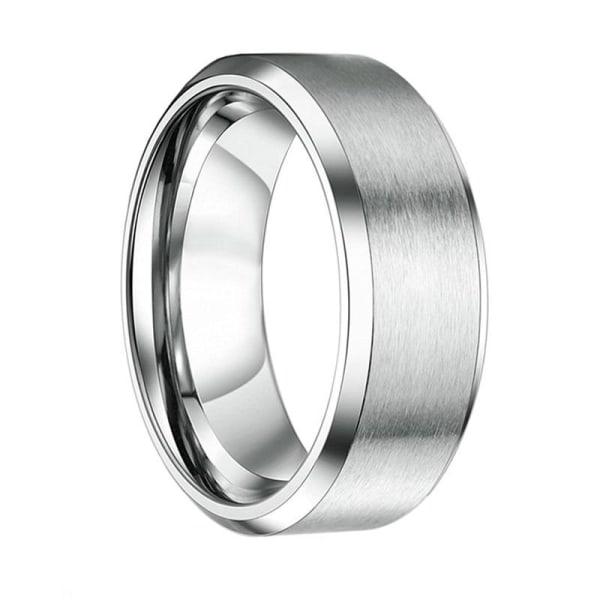 4/6/8 / mm förlovningsringar i svart volframkarbid för 8mm silver 9