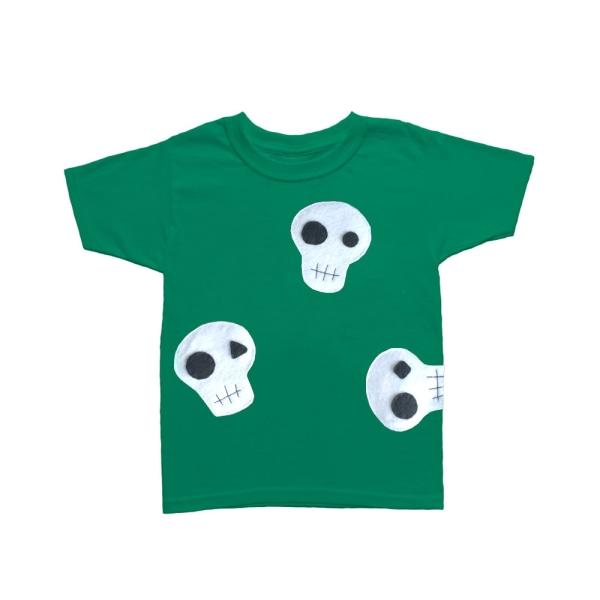 Skallar kan vara söta! - grön och rosa barn-t-shirt Raspberry 18mT