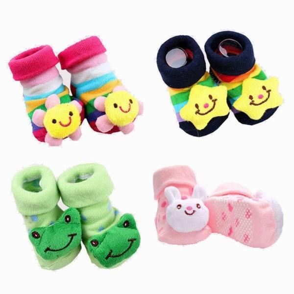 Nyfödd flicka rolig glad glidande gummisockor Set-C 11CM(6-18 months)