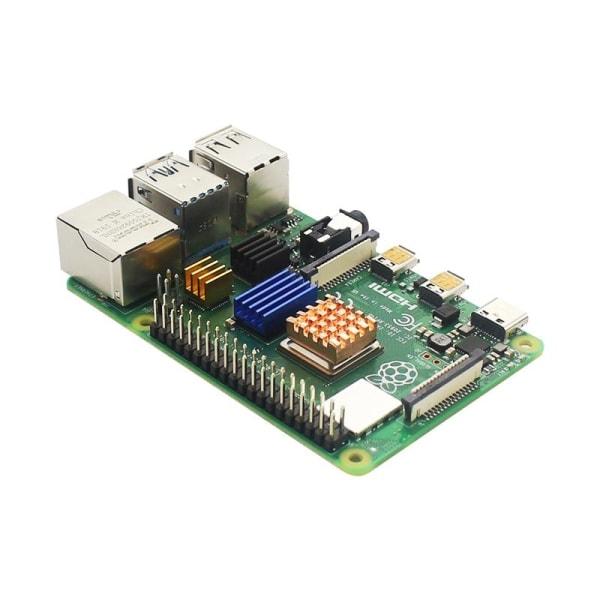 Pi-4 modell-b, fodral för strömförsörjning, tf-kort, 8GB RAM with Fan