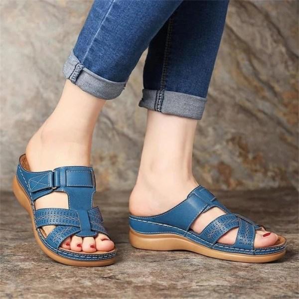 Nya kvinnorsandaler platta skor black 38