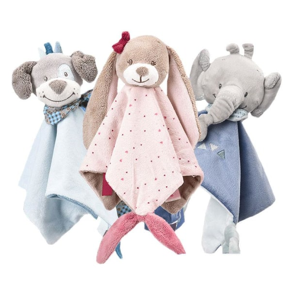 Baby tröst leksak kanin plysch sovleksak baby blid handduk dog th053