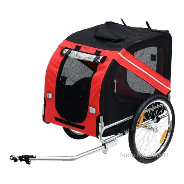 Uppblåsbar släpvagn för husdjur, cykelvagn i aluminiumram, YELLOW