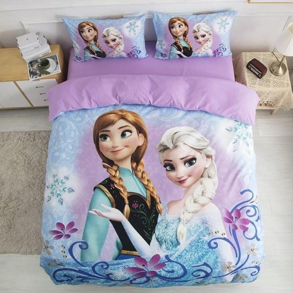 Disney frysta elsa anna prinsessa sängkläder för baby barn Twin(3pcs)with sheet