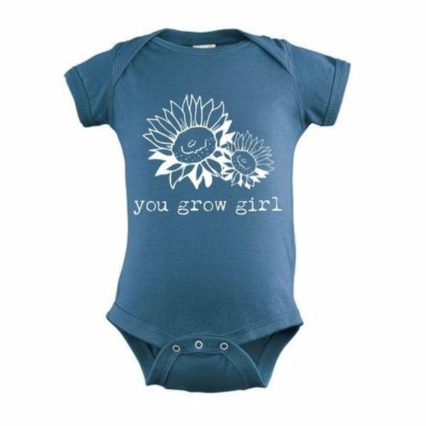 Du växer t-shirt för tjejer Black SLadies Boutique V-Neck