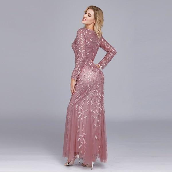 Aftonklänningar för kvinnor, o-ringad helärmad festklänning Onions Floor Length