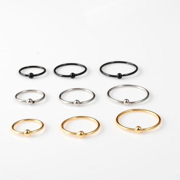 Ring kropp smycken örhänge gold 8mm