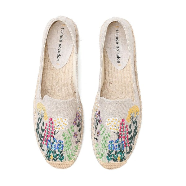 Mode bekväma casual rusade skor Beige  flower 6