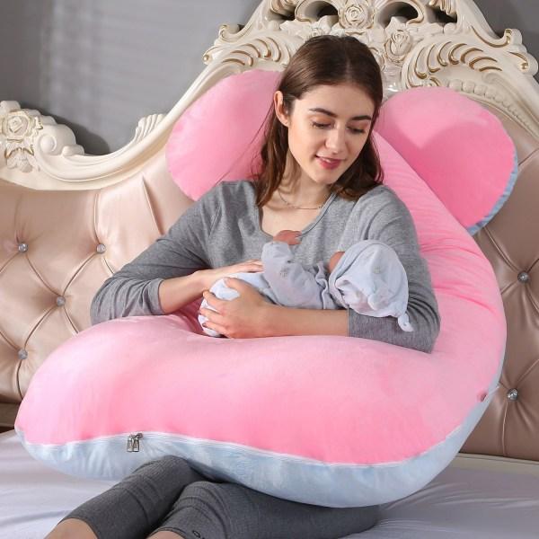 Kvinnor mjuk graviditet kudde sovkudde graviditet stöd 13 Velvet
