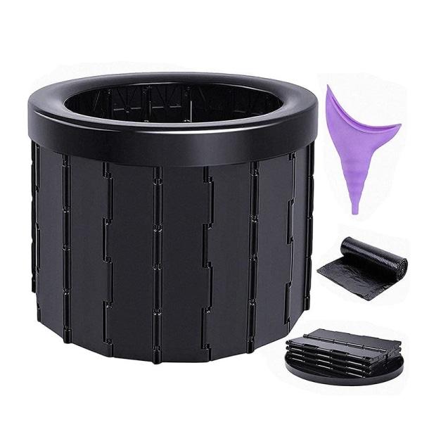 Bärbar toalett fällbar camping utomhus kommode för resor ABS