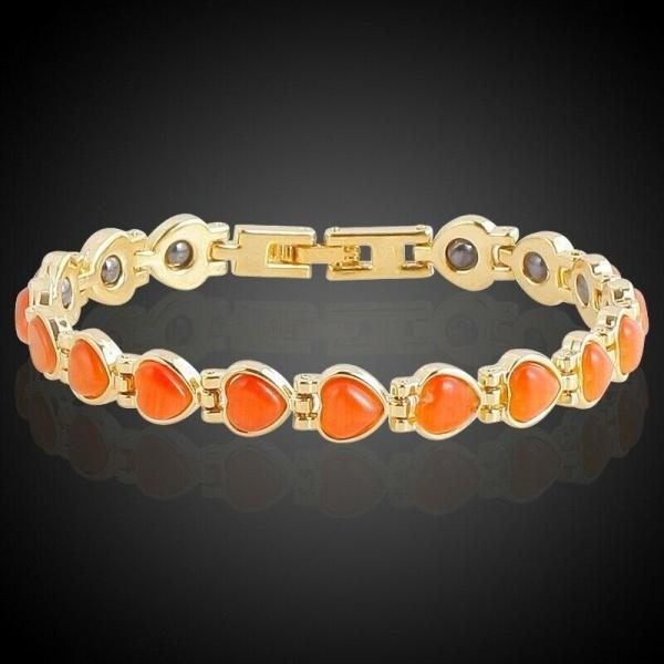 Män och kvinnor terapeutiskt energiläge magnetiskt armband, GMSP606-Orange