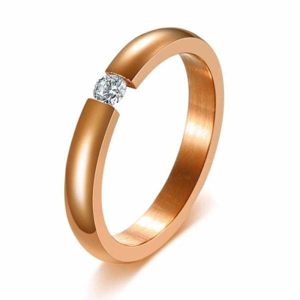 Zorcvens trendiga ljusa 585 rosa guld ton förlovningsringar woman 12