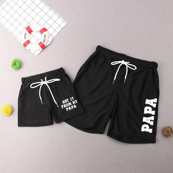 Familj matchande baddräkt-mor-dotter bikini och far-son strand Boys Shorts 5T