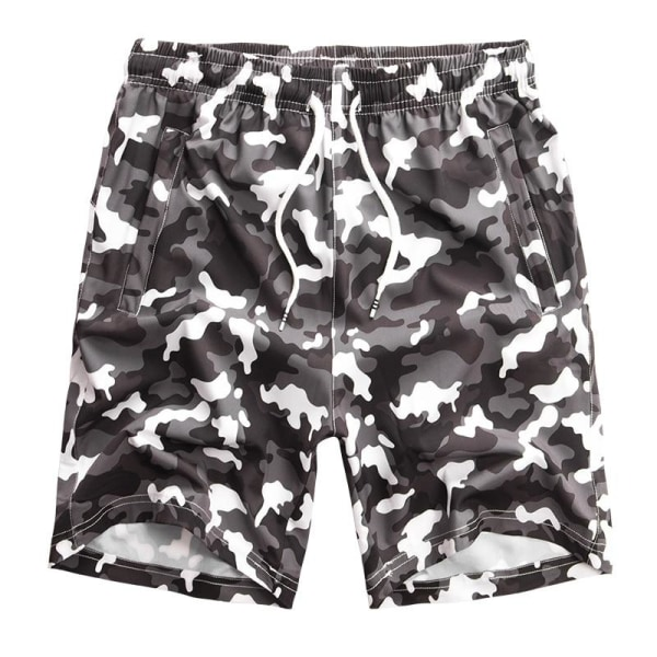 Herr badkläder ombord shorts, sommar baddräkt bermudastammar black/White 8XL