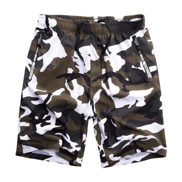 Herr badkläder ombord shorts, sommar baddräkt bermudastammar black/White M