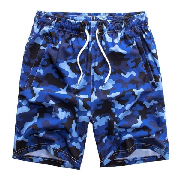 Herr badkläder ombord shorts, sommar baddräkt bermudastammar blue M